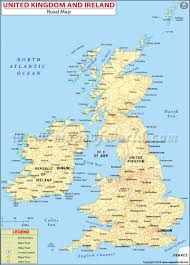 Map Of Europe During Ww1 by Road Map Of Uk And Ireland Great Britain And Ireland Road Map