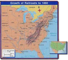 map us railroads 1860 map 1 port cities compete
