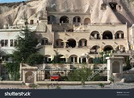 luxury caves dwellings urgup cappadocia turkey stock photo