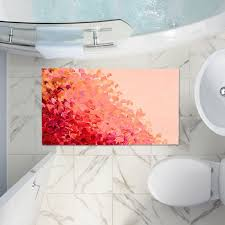 Coral Color Bathroom Rugs Artistic Bath Rugs And Mats Di Sano S Creation In Color