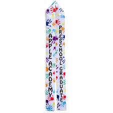 personalized graduation stoles color custom graduation sash handprints s
