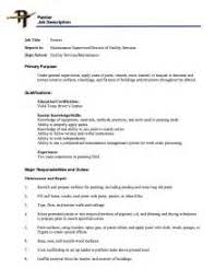 Painter Resume Sample by Job Description Painter Resume How To Make Resume Using Php