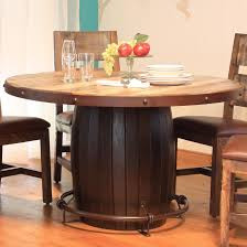 Artisan Home  Antique Round Dining Table With Barrell Base And - Antique round kitchen table