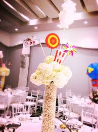 theme centerpiece popcorn centerpiece for carnival theme party by dezign shop