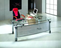 Office Desk With Glass Top Modern Black Glass Office Desk Glacier Modern Glass Home Office