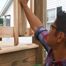 How To Install A Banister How To Build A Deck Wood Decking And Railings