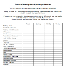 sample weekly budget 7 documents in pdf word