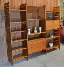 Bookcase System Retro Ladderax Teak Shelving Display Bookcase System Vgc
