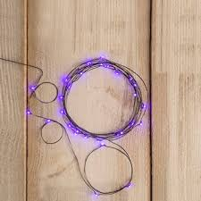18 micro purple led lights battery operated 3 ft black wire