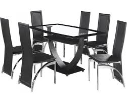 Glass Dining Table With 6 Chairs Glass Dining Table 6 Chairs
