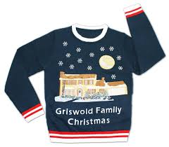 christmas vacation lighted griswold house ugly christmas sweater