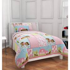 Brown And Blue Bed Sets Bedroom Mainstays Kids Country Meadows Bed In A Bag Bedding Set