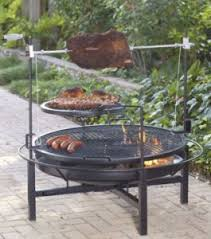 Grill For Fire Pit by Landmann Round Rock Grill Rotisserie And Fire Pit Review Family