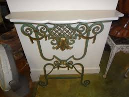 Iron Console Table Stylish French 1940 U0027s Wrought Iron Console Table With Marble Top