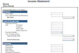 Personal Financial Statement Excel Template Personal Income Statement Template Free Layout Format