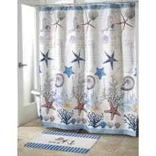 fabulous nautical theme bathroom blue sea polyester shower curtain
