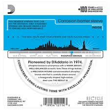 d addario ej16 phosphor bronze light acoustic guitar strings d addario ej16 phosphor bronze light 12 53 at gear4music com
