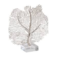silver home decor silver coral sculpture ethan allen us silver home decor silver coral sculpture ethan allen us decorative objectsdecorative