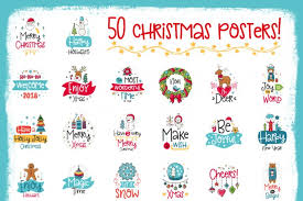 50 christmas cards with quote by qilli design thehungryjpeg com