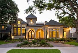 Exterior House Paint Schemes - exterior vibrant home design with outdoor lighting and bright