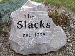 engraved stones signs boulders and engraved address stones watertown wi
