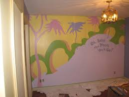 nursery mural how to paint even black lines painting diy