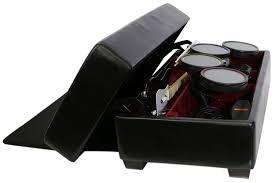 Rock Band Ottoman Ak Rock Box Gaming And Storage Ottoman With Drum Lift