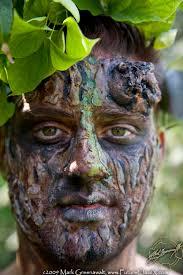 Tree Halloween Costumes Tree Facepainting Male Model Pieter Halloween Dead