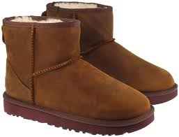 womens ugg boots leather ugg boots womens mini ii chestnut leather landau store