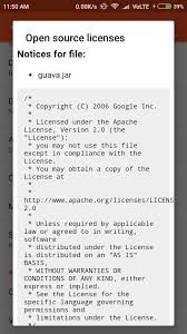 android license view to show third licenses in android app stack overflow