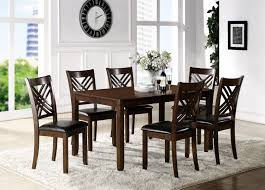 side table for dining room crown mark eloise dining room table with six crossback side chairs