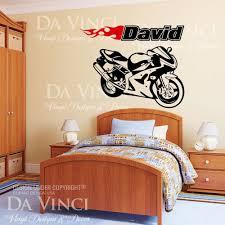 motorcycle sportbike racing bike wall room custom name vinyl motorcycle sportbike racing bike wall room custom name vinyl decal sticker ebay