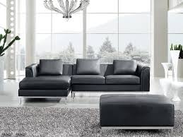 Corner Sofa With Chaise Lounge by Corner Sofa R Settee Leather Chaise Longue Black Teseo