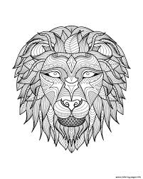 africa lion head 2 coloring pages printable