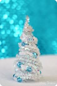 small white christmas tree diy pipe cleaner trees christmas craft