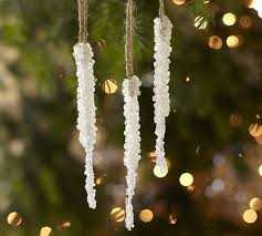 crystallized icicle ornament pottery barn