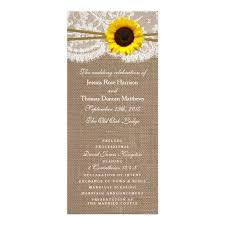 sunflower wedding programs 41 best the rustic sunflower collection images on