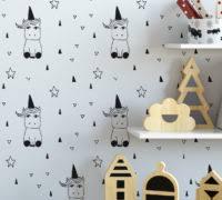unicorn nursery wallpaper moonwallstickers com