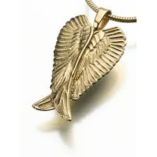 jewelry wings necklace images Cremation jewelry angel wing ash pendant necklace jpg