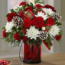 christmas floral arrangements wishes bouquet gift basket delivery