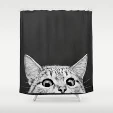Zoological Shower Curtain by Animals Black White And Illustration Shower Curtains Society6