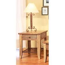 rustic pine end table buy your end tables from rc willey for your den