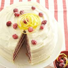 vanilla bean cake with lemon cream cheese frosting