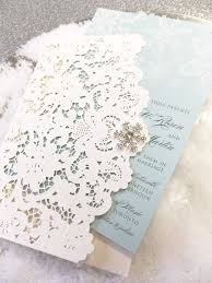pocket fold winter laser cut wedding pocket fold invitation 0475