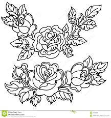 Flower Drawings Black And White - roses royalty free stock images image 35206389
