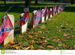 Confederacy Flags Confederate Flags On Civil War Graves Stock Image Image 55865757
