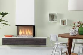 gas fireplace contemporary closed hearth 3 sided global 60