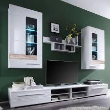 Wohnzimmerschrank In Eiche Wohnwand Mezzo Angenehm Auf Wohnzimmer Ideen Plus Trendteam