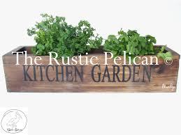 large reclaimed barn wood style planter box kitchen planter
