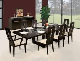Long White Dining Table by Contemporary Dining Room With Long Modern Dining Table Around Nice